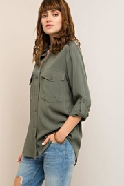 Entro Olive Blouse Blouse - Front cropped