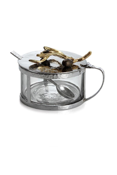 Michael Aram OLIVE BRANCH CONDIMENT CONTAINER W/ SPOON - Product List Image
