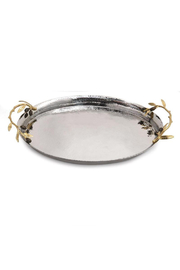 Michael Aram OLIVE BRANCH OVAL SERVING TRAY - Product Mini Image