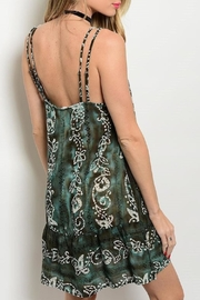 Adore Clothes & More Olive Brown Summer Dress - Front full body