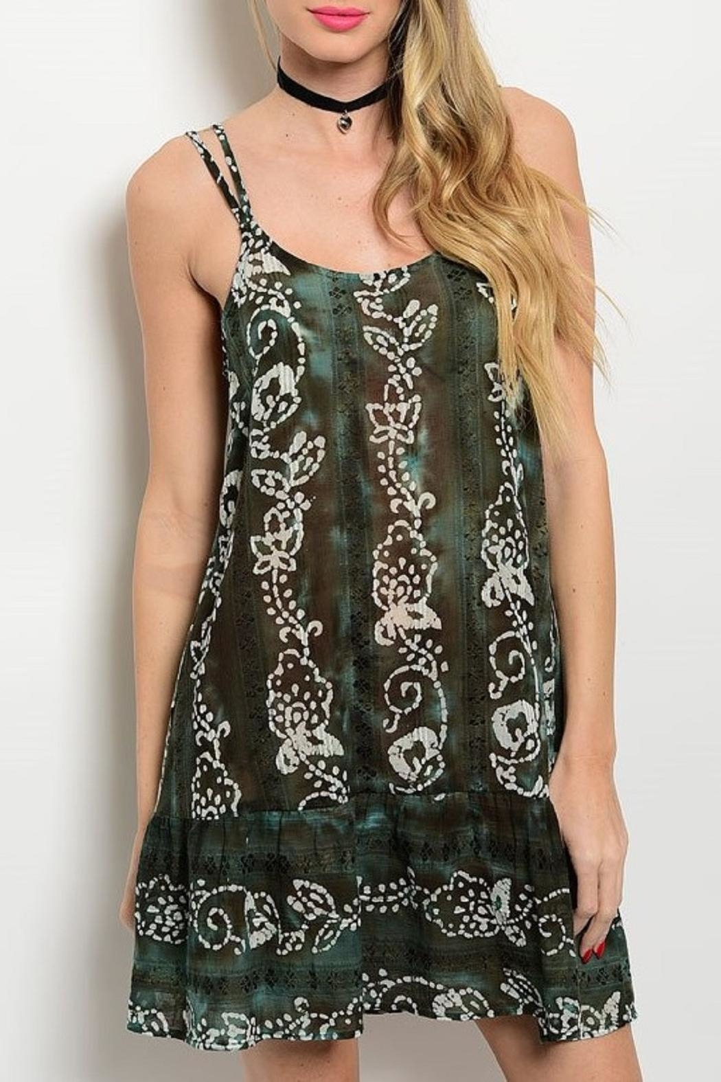 Adore Clothes & More Olive Brown Summer Dress - Front Cropped Image