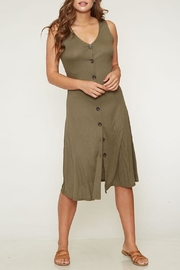 Peach Love California Olive Button-Down Knit-Dress - Product Mini Image