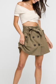 Lush Olive Button Skirt - Product List Image