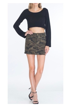 Polly & Esther Olive Camo Skirt - Product List Image
