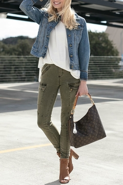 Grace & Lace Olive Cargo-Style Jeggings - Product List Image