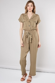 Idem Ditto  Olive Chic Jumpsuit - Product Mini Image