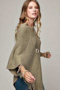 Shoptiques Product: Olive-Colored Poncho