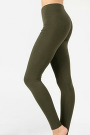 Modern Emporium Olive Cotton Leggings - Product Mini Image
