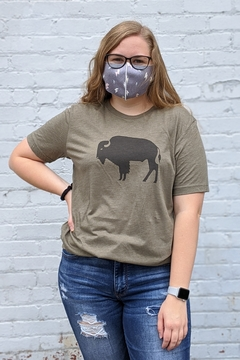 Ivy Jane Olive Crewneck Tee with Buffalo Graphic - Product List Image