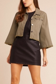 Jack by BB Dakota Olive Cropped Jacket - Product Mini Image