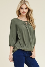 Staccato Olive Cross Top - Product Mini Image