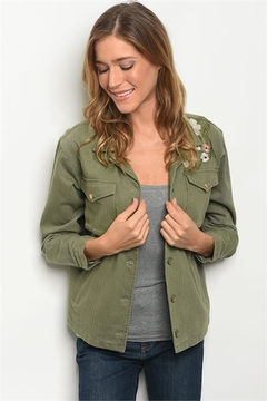 Roly Poly Olive Embroidered Jacket - Product List Image
