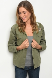 Roly Poly Olive Embroidered Jacket - Product Mini Image