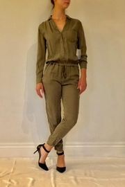 Sneak Peek Olive Flight Suit - Front cropped