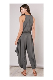Mustard Seed Olive Flowy-Leg Jumpsuit - Side cropped