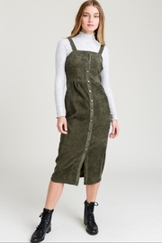 Le Lis Olive-Green Corduroy Dress - Product Mini Image