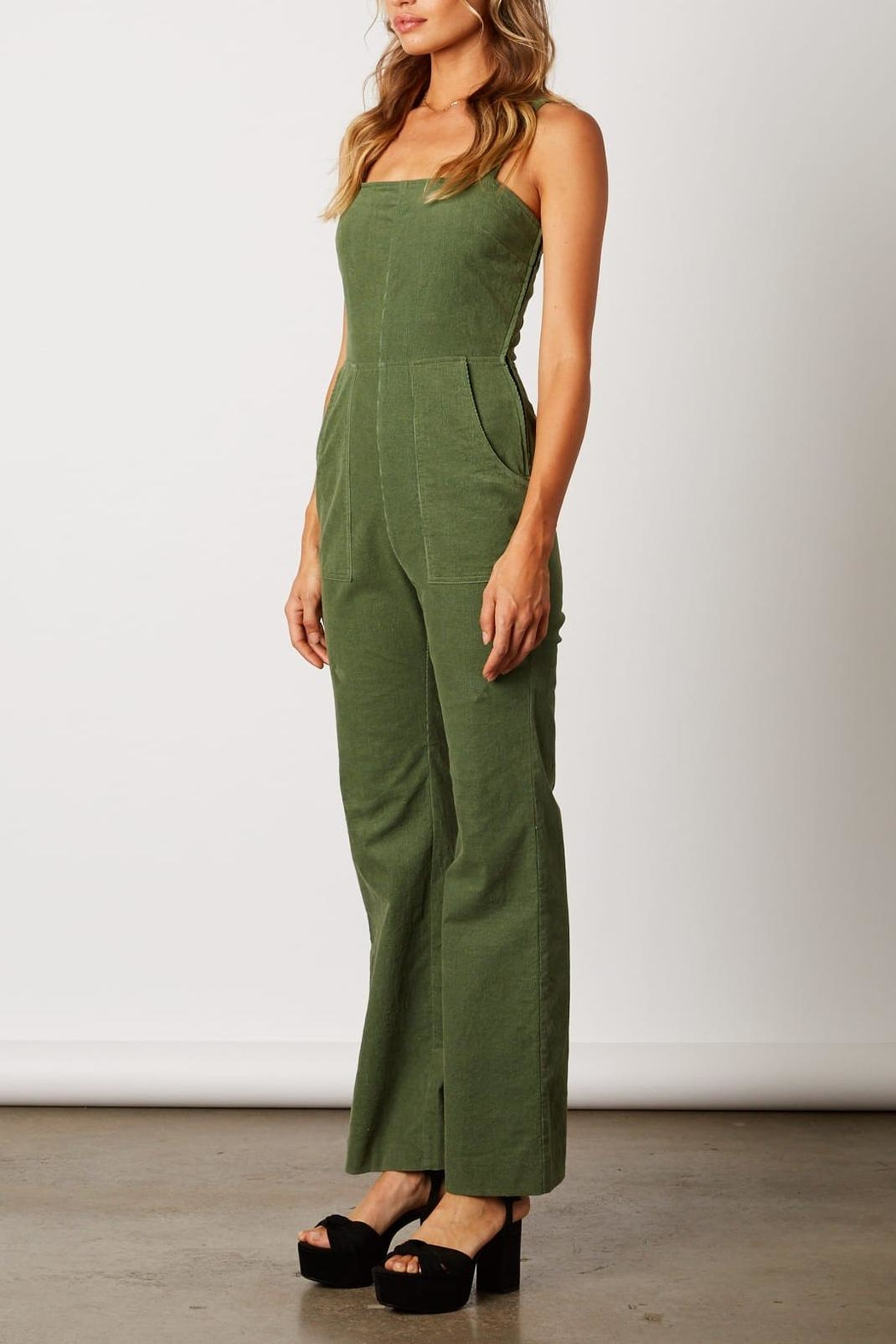 ca5d3e37fed Cotton Candy LA Olive-Green Corduroy Jumpsuit from Virginia by ...