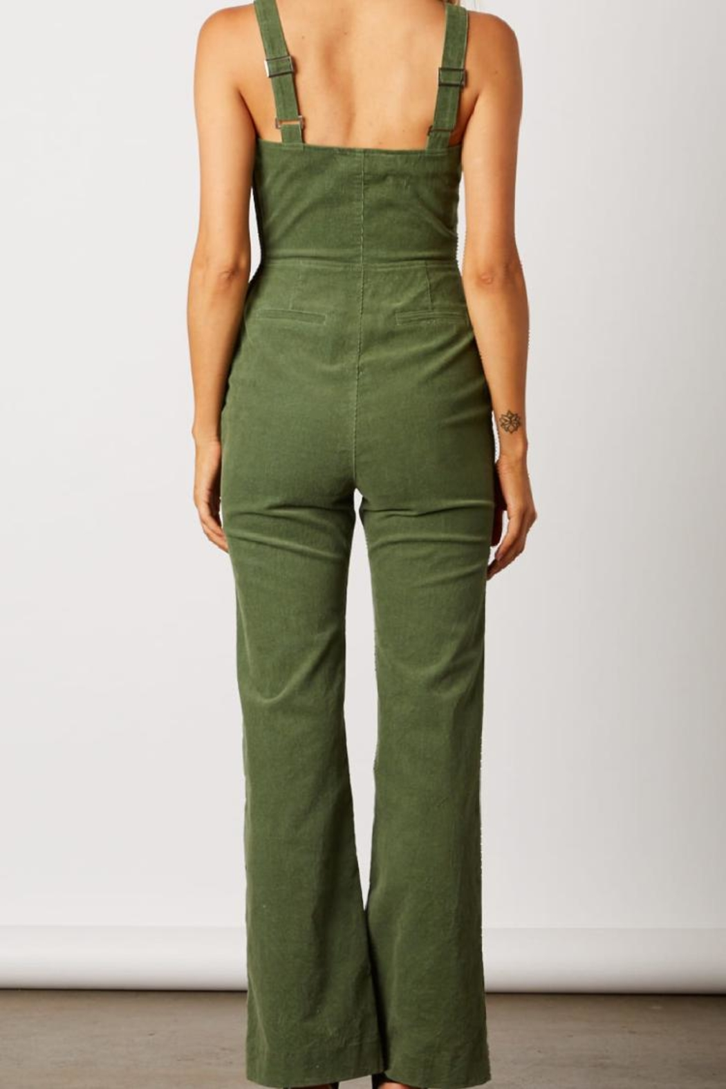 Cotton Candy LA Olive Green Jumpsuit - Front Full Image