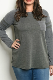 Fashion Queen  Olive Grey Top - Product Mini Image