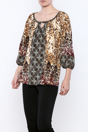 Olive Hill Mixed Print Blouse - Product Mini Image