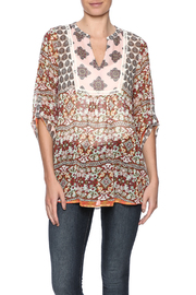 Olive Hill Mixed Print Top - Product Mini Image