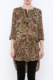Olive Hill Paisley Henley Tunic - Side cropped