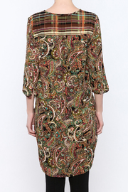 Olive Hill Paisley Henley Tunic - Back cropped