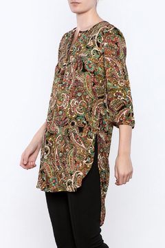 Olive Hill Paisley Henley Tunic - Product List Image