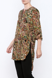 Olive Hill Paisley Henley Tunic - Product Mini Image
