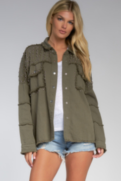 Shoptiques Product: Olive Jacket with Studs