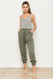 Hem & Thread Olive Joggers - Product Mini Image