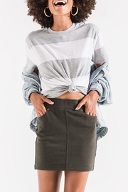 z supply Olive Knit Skirt - Product Mini Image