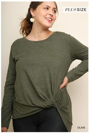 Umgee Olive Knot Top - Product Mini Image