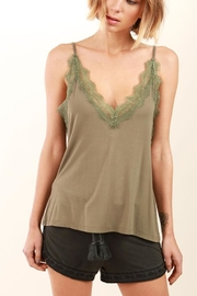 POL Olive Lace Tank - Product Mini Image