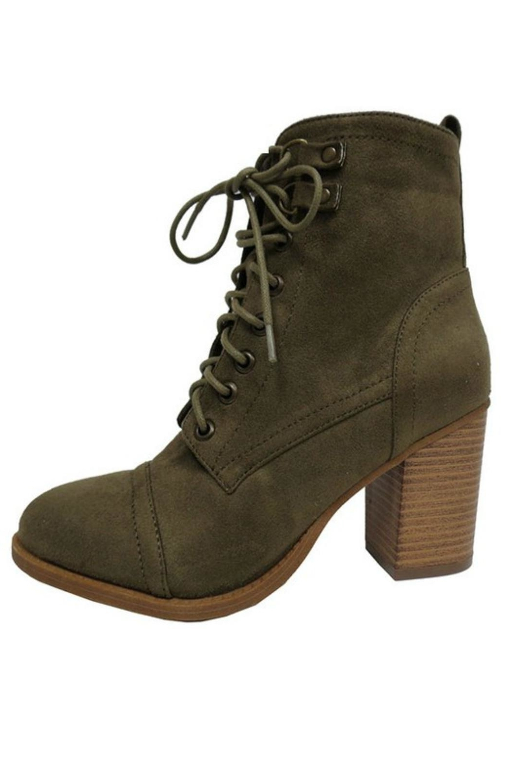 X2B Olive Lace-Up Boots from California