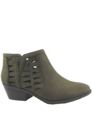 Soda Olive Laser Cut Bootie - Product Mini Image
