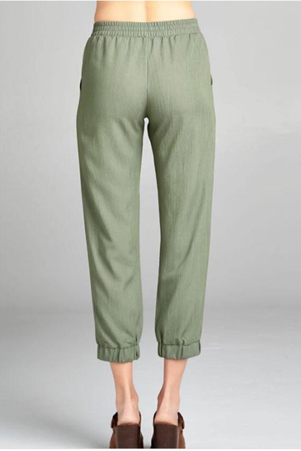 Color Thread Olive Lounge Pant - Front Full Image