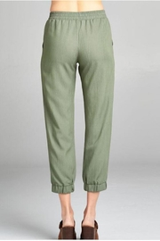 Color Thread Olive Lounge Pant - Front full body