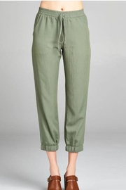 Color Thread Olive Lounge Pant - Front cropped