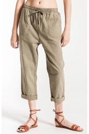 rag poets Olive Marina Pant - Front full body