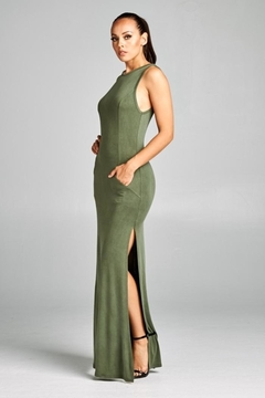 Win Win Olive Maxi Dress - Product List Image