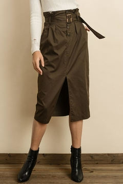 Shoptiques Product: Olive Midi Skirt