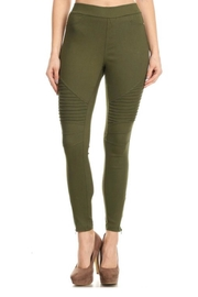 JVINI Olive Moto Jeggings - Product Mini Image