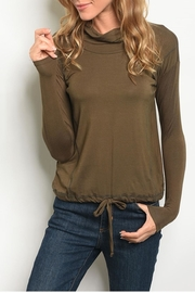 Les Amis Olive Pullover - Product Mini Image