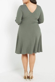 MaiTai Olive Ribbed Dress - Side cropped