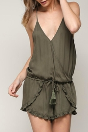 ALB Anchorage Olive Ruffle Romper - Front cropped