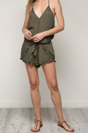 ALB Anchorage Olive Ruffle Romper - Side cropped
