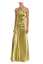 Issue New York Olive Satin Gown - Product Mini Image