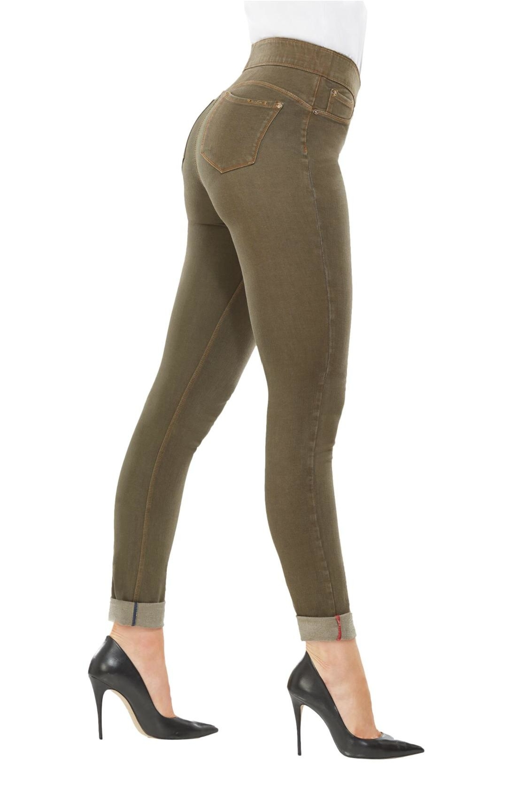 Nygard Olive Skinny Jeans - Front Full Image