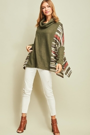 Entro Olive Striped Dolman - Product Mini Image